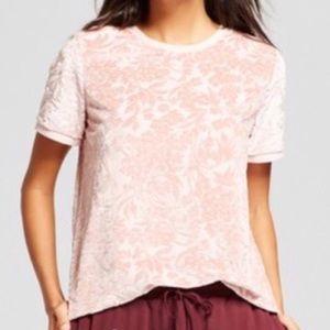 Light Pink Sheer Pattered Top